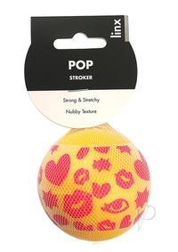 LINX POP STROKER BALL CLEAR/YELLOW OS