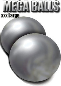 MEGA BALLS:  VAGINAL & ANAL PLEASURE SPHERES SILVER