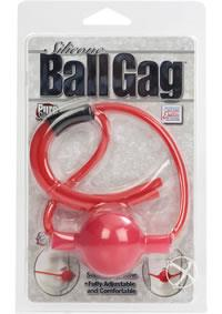SILICONE BALL GAG - RED